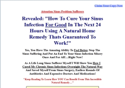 the 24 hour sinus breakthrough website The 24 Hour Sinus Breakthrough Review